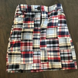 high waisted patchwork skirt